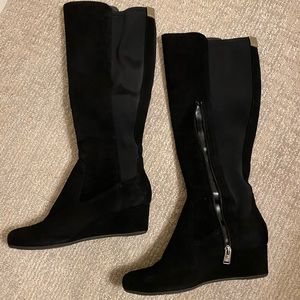 Rockport tall boot extended shaft Blk 7w